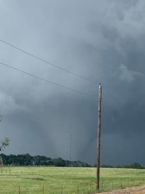A tornado passed through Madill Wednesday afternoon.