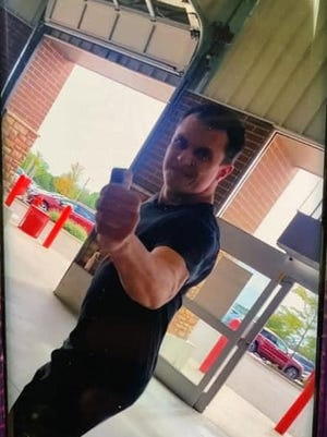 A man used pepper spray on a manager of the Costco in Boston Heights after refusing to wear a mask and being escorted from the story, police say. He was holding the pepper spray while he was in the store, the manager told police. Photo courtesy of Peninsula police.
