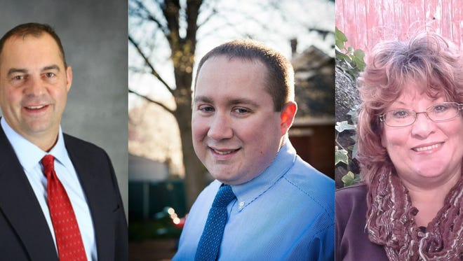 Republicans (from left) Doug Cheyney, Brian Craig and Jennifer Oh will be battling it out for the party's nomination as Lebanon County Register of Wills/Clerk of Orphans Court in the May 16 Primary.