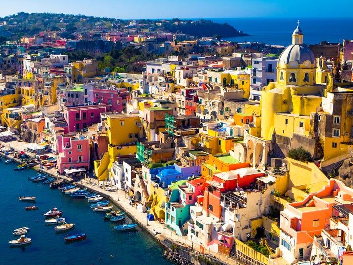Procida, Campania: Encompassing just 1.6 square miles,