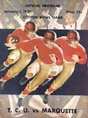 The official program for the first Cotton Bowl game between Texas Christian University and Marquette University.
