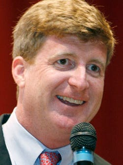 Former Congressman Patrick Kennedy visits Camden County College on Monday afternoon.