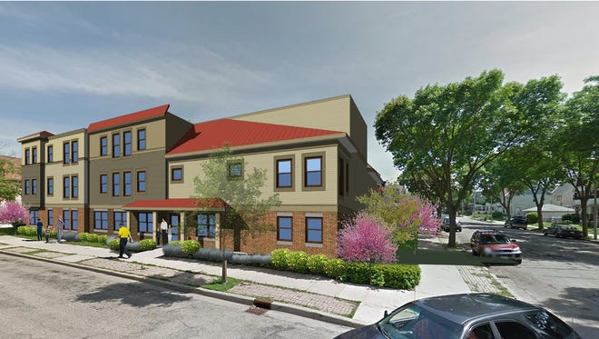 A 23-unit building at the southeast corner of W. Vieau Place and S. 24th St. would be one of two buildings that make up Clarke Square Apartments. Up to 15 of the 40 apartments would be set aside for young people who have aged out of foster care.