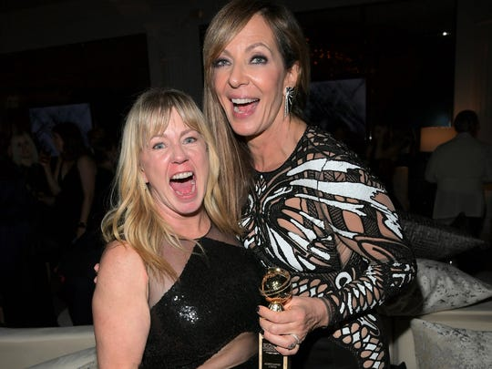 'I, Tonya' star Allison Janney (right) celebrates her