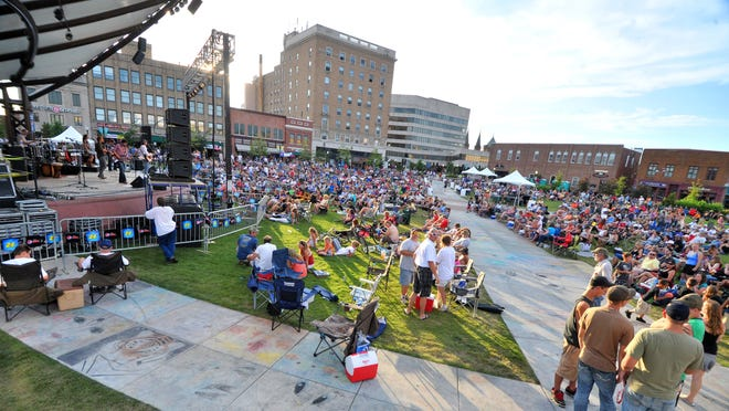 Hundreds turned out for Rock The 400 Block Concert in downtown Wausau in 2012.