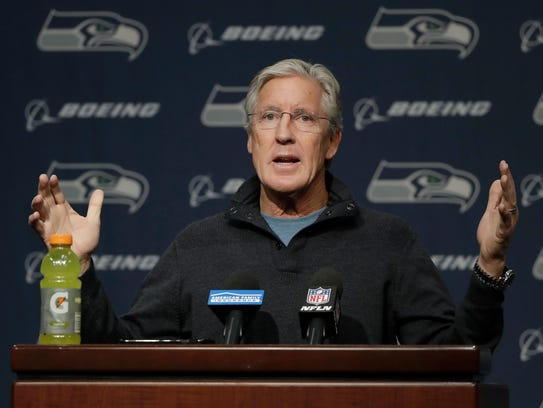 Seahawks coach Pete Carroll acknowledged that some