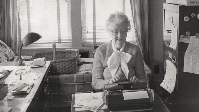 Lucile Morris Upton retired from full-time work at the News-Leader on Jan. 1, 1964  but continued to write her column from her home.