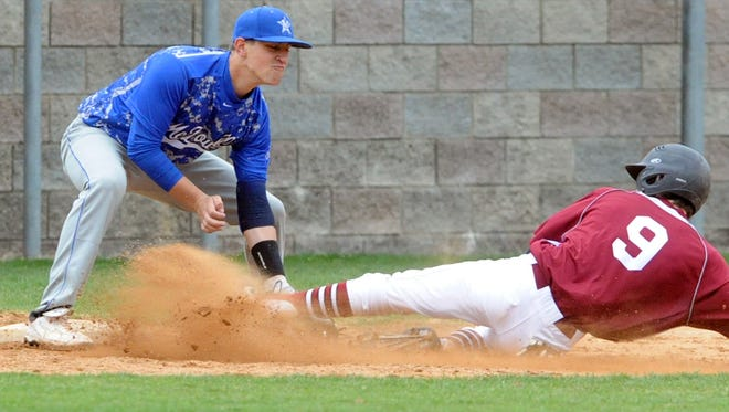 McDowell junior Trevor Newman, left, has committed to play college baseball for Winthrop.