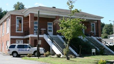 The Bryson City police station