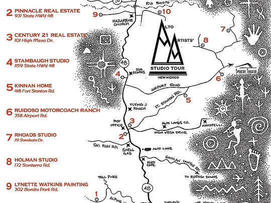 Ruidoso and Alto will host a tour of the Alto Artists Studio tour hitting the off beating path in Lincoln County.
