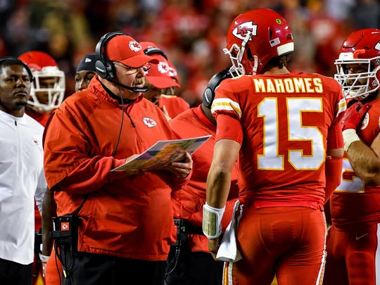 Chiefs quarterback Patrick Mahomes already has 29 touchdown passes and has thrown for 3,185 yards