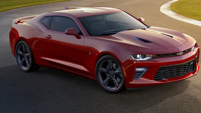 The 2016 Chevrolet  Camaro, seen here in the  SS version, was introduced near Detroit.