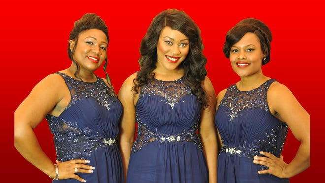 """""""Dreamgirls"""" opens at the Axelrod Performing Arts Center on Saturday. Here are the Dreams: Né Lasheé (left to right) """"The Voice UK"""" finalist Joelle Moses and Meka Ward."""