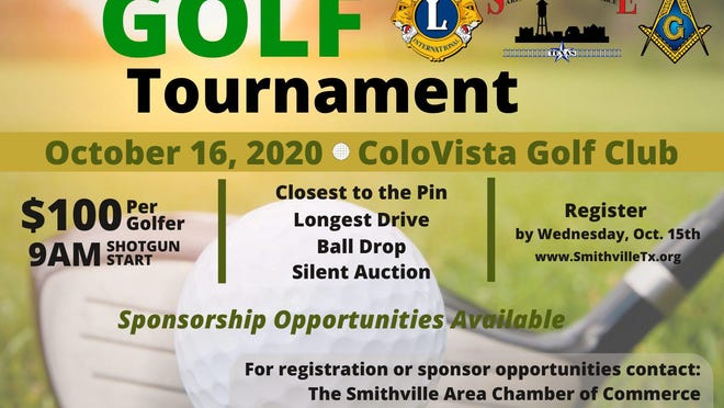 First Annual Golf Tournament sponsored by the Smithville Area Chamber of Commerce, Smithville Noon Lion's Club and the W. J. Nixon Masonic Lodge No. 421 AF&AM.
