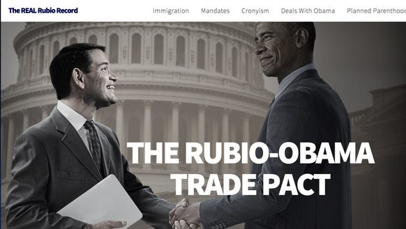 A doctored image of Marco Rubio distributed by Ted
