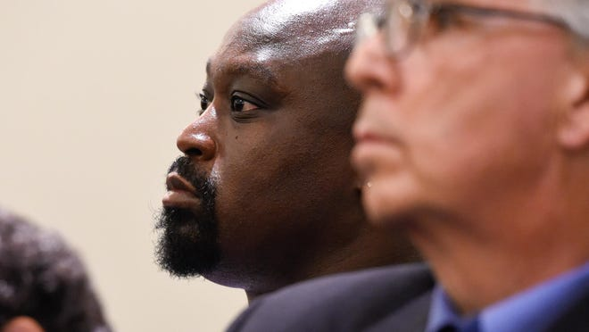 Jermaine Wright in October listens as the Delaware Supreme Court considers arguments.