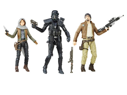 Star Wars Rogue One characters.