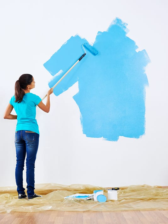 painting wall blue