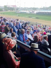 The Churchill Downs stands are filling up for Kentucky