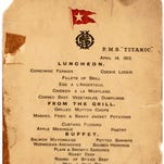 The Titanic's last lunch menu is among items up for auction Sept. 30.
