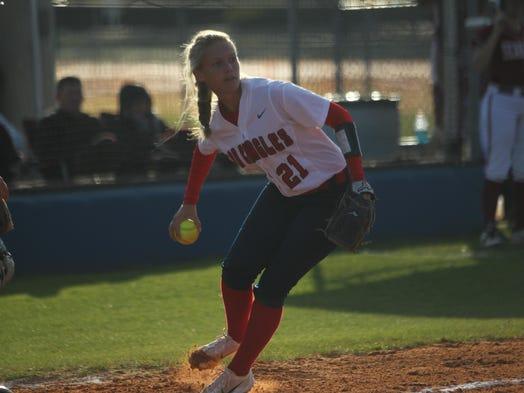 Wakulla sophomore third baseman Aubrey Parker makes