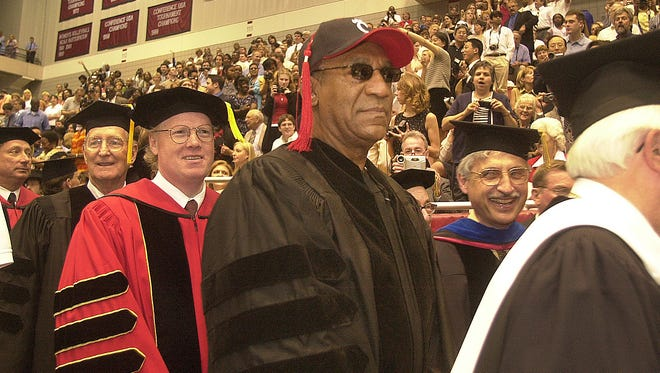 Entertainer Bill Cosby at the University of Cincinnati commencement Friday, June 8, 2001 at the Shoemaker Center. He received an honorary Doctor of Human Letters from UC. Photo by Glenn Hartong/The Cincinnati Enquirer.