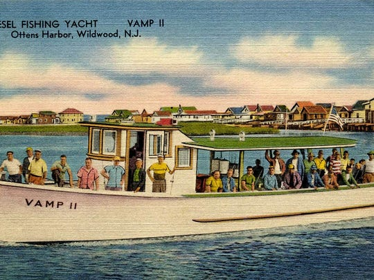 The Vamp II was a '45-footer' oak and pine wood Chesapeake style deadrise boat built by noted boat builder Edward L. Deagle. Postcards were very commonly used for advertising through the 1980s.