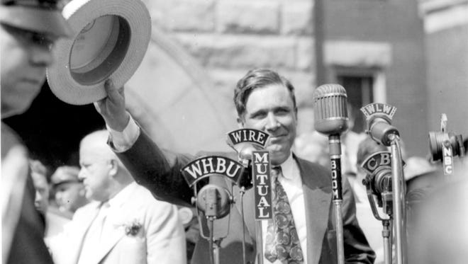 Wendell Willkie accepts the Republican nomination for president in Elwood, Ind. on Aug. 18, 1940. Willkie lost the election to Franklin D. Roosevelt by over 5 million votes.