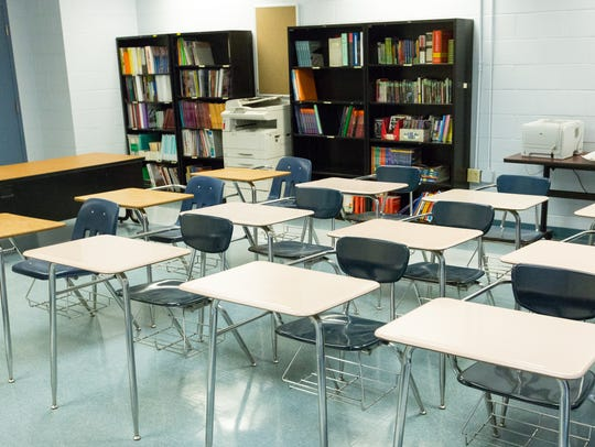 Pictured is a classroom at the Juvenile Detention Center