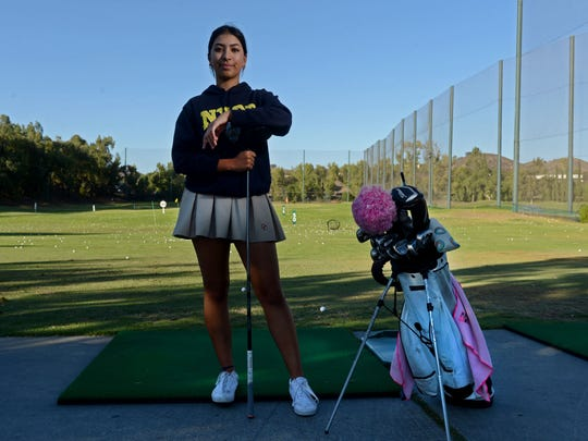 Megan Ahmadi, 15, tied for fifth in her age group at the 2017 Drive, Chip & Putt Championship at Augusta.