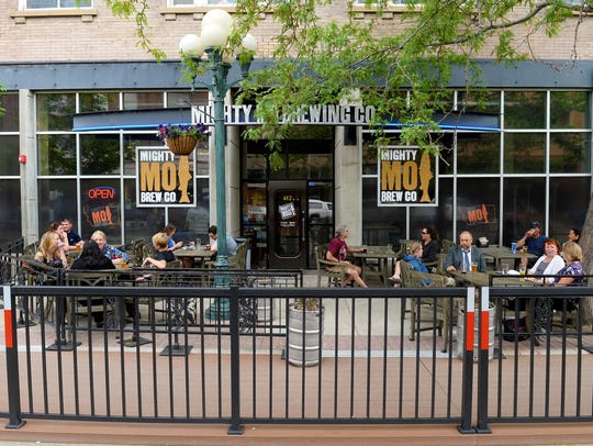 The patio at Mighty Mo Brewing Co in Great Falls is ready for another summer.