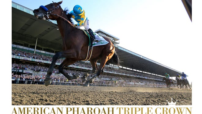 The American Pharoah poster on sale through The Courier-Journal.