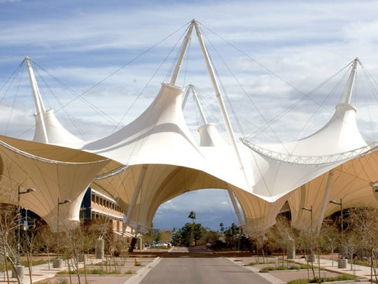 The SkySong shade structure is designed to be the centerpiece
