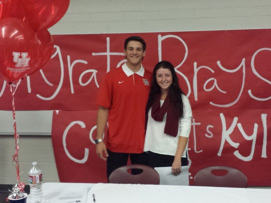 Desert Hills' Kyla Smith and Brayson Hurdsman signed their National Letter of Intent on Wednesday. Smith is headed to Southern Utah, while Hurdsman will go to the University of Houston.