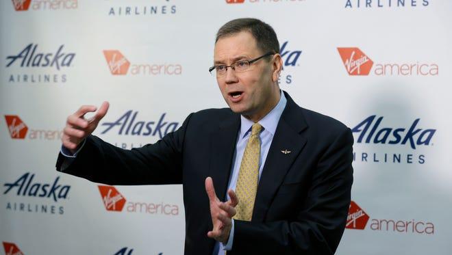 Alaska Airlines president and CEO Brad Tilden