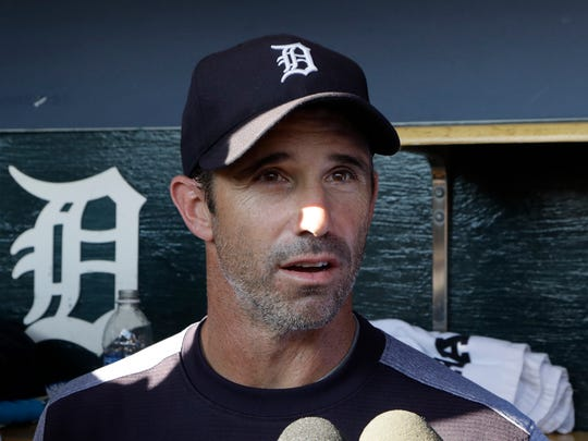 Brad Ausmus talks to the media Friday, Sept. 22, 2017 at Comerica Park after it was announced he would not be brought back at the end of the 2017 season.