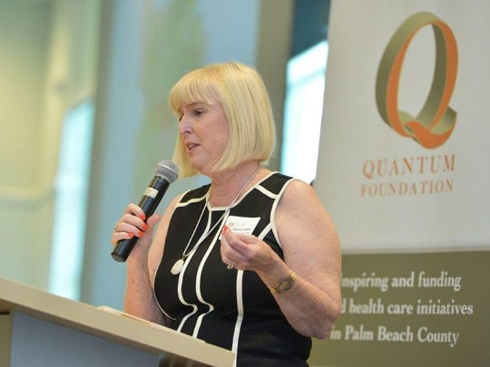 Sharon Cohen, of the Pediatric Oncology Support Team, or POST, was a speaker at the Quantum Foundation Breakfast on Nov. 18.