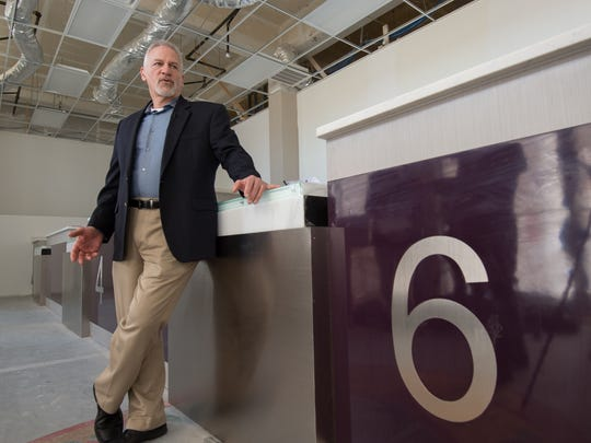 Mark Lally, chief executive officer of the First State Compassion Center, stands inside what soon will be Delaware's second medical marijuana dispensary, an operation set to open near Lewes this spring.