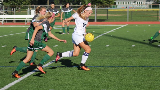 Pequannock girls' soccer standout Kayla Afflitto is one of four senior captains for the Golden Panthers this coming season.