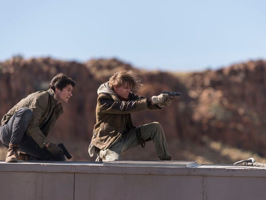 Thomas (Dylan O'Brien, left) and Newt (Thomas Brodie-Sangster)