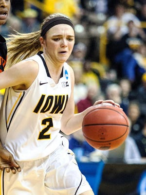 Iowa's Ally Disterhoft will appear in her first game outside of the Game Time League since undergoing offseason surgery to repair a ruptured tendon in her right wrist and thumb area.