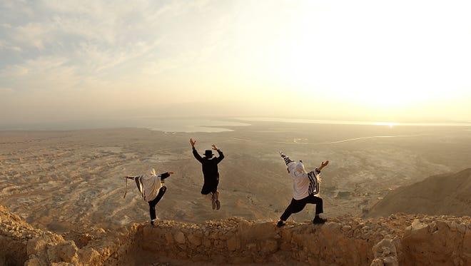 Toby Cohen's 'Sunrise at Masada' is a 2008  digital print.