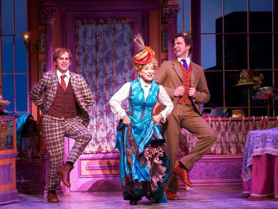 Taylor Trensch (left), Bette Midler and Gavin Creel