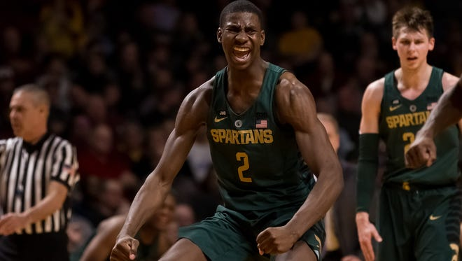 Jaren Jackson Jr. scored a career-high 27 points on 10-of-14 shooting in MSU's 87-57 win Tuesday night at Minnesota.