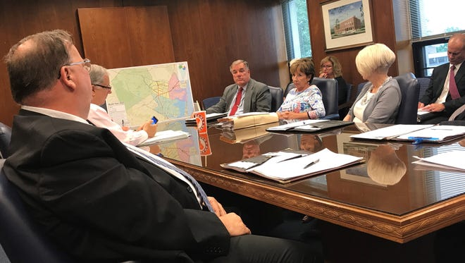 The Ocean County Board of Freeholders meet in agenda session on Wednesday, July 25, 2018 at the county administration building in Toms River.