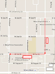 The route for the 2015 East Valley Veterans Parade