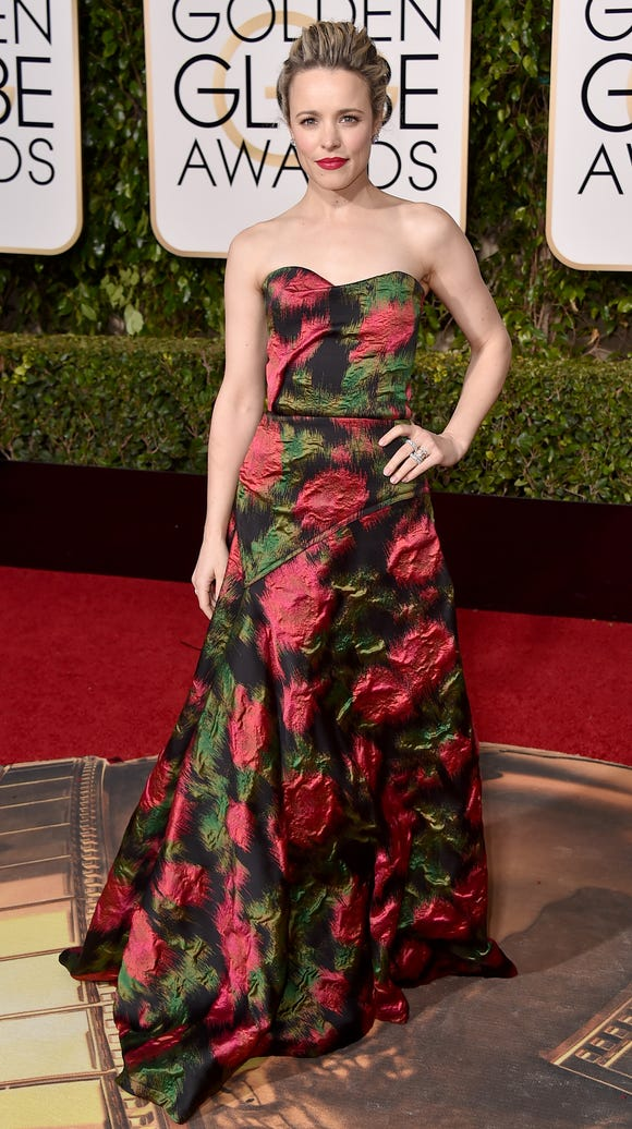 Rachel McAdams stuns in a floral gown.