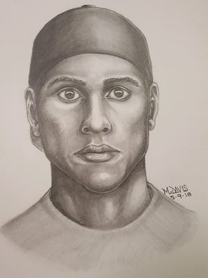 Composite sketch of Hanover attempted armed robbery and shooting suspect.