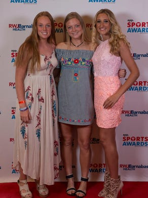 Athletes, friends, and family arrive to the 2018 APP Sports Awards and walk the red carpet. 