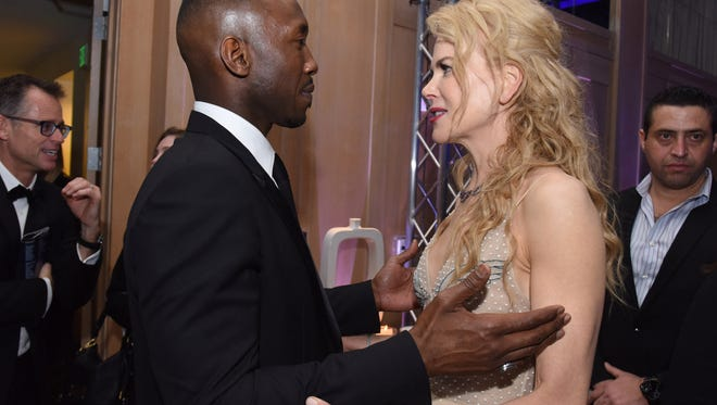Actor Mahershala Ali and actress Nicole Kidman attend the 28th Annual Palm Springs International Film Festival at Parker Palm Springs on January 2, 2017 in Palm Springs, California.